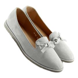 Women's loafers gray JN-182 gray grey 4