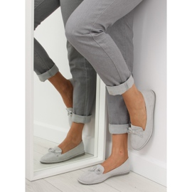 Women's loafers gray JN-182 gray grey 1
