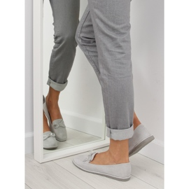 Women's loafers gray JN-182 gray grey 2