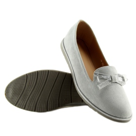 Women's loafers gray JN-182 gray grey 5