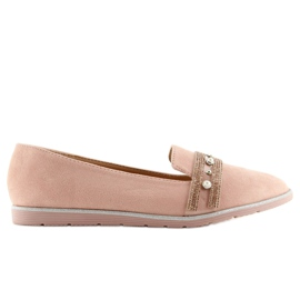 Pink lingua loafers JN-181 Pink 2