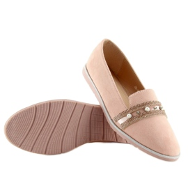 Pink lingua loafers JN-181 Pink 4