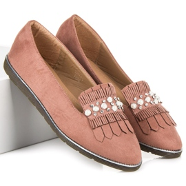 Moccasins with decoration pink 2