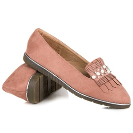 Moccasins with decoration pink 1