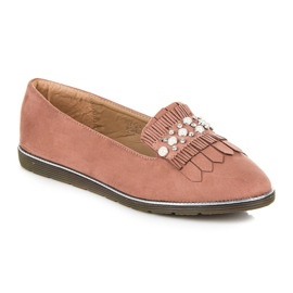 Moccasins with decoration pink 4