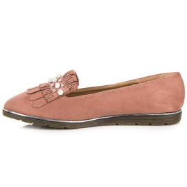 Moccasins with decoration pink 5