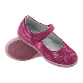 Ballerinas girls' shoes Ren But 3285 pink white 3