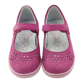 Ballerinas girls' shoes Ren But 3285 pink white 4