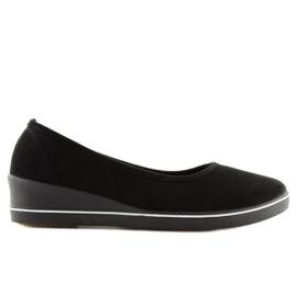 Ballet shoes wedges black D73 black 2
