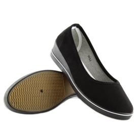 Ballet shoes wedges black D73 black 1