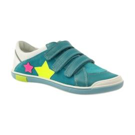 Girls' shoes for Velcro Bartek pink yellow blue white 1