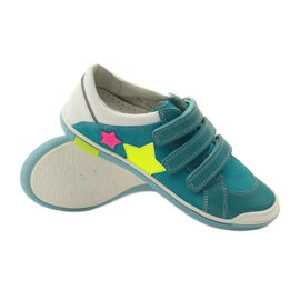 Girls' shoes for Velcro Bartek pink yellow blue white 3