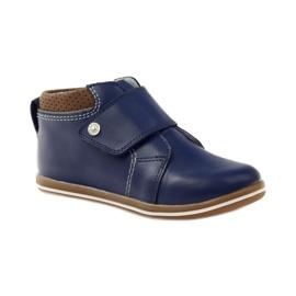 Velcro closure boots Bartek 31829 navy blue brown 1