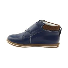 Velcro closure boots Bartek 31829 navy blue brown 2