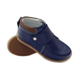 Velcro closure boots Bartek 31829 navy blue brown 3