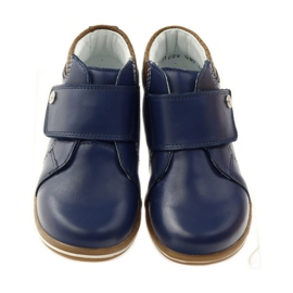 Velcro closure boots Bartek 31829 navy blue brown 4
