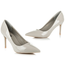 Vices Lacquered heels grey 7