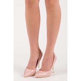 Seastar Heels with decorative heel pink 4