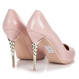 Seastar Heels with decorative heel pink 2