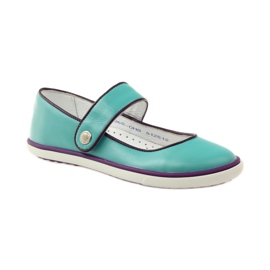 Ballerinas for girls Bartek 25368 turquoise green 1