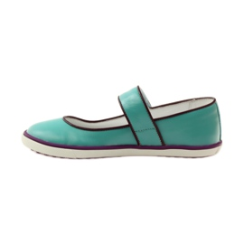 Ballerinas for girls Bartek 25368 turquoise green 2