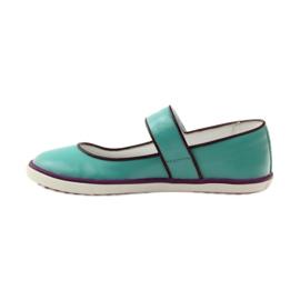 Ballerinas children's shoes Bartek 28368 turquoise green violet white 2