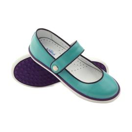 Ballerinas children's shoes Bartek 28368 turquoise green violet white 3