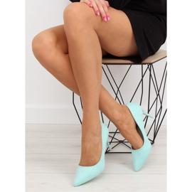 Suede high heels Candy Shop celadon LEI-90 Green 2
