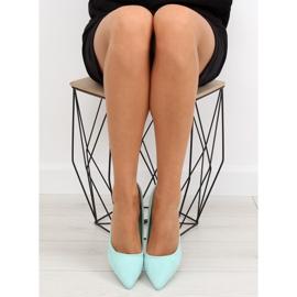 Suede high heels Candy Shop celadon LEI-90 Green 1