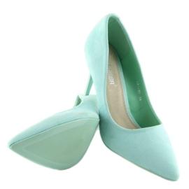 Suede high heels Candy Shop celadon LEI-90 Green 3