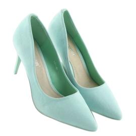 Suede high heels Candy Shop celadon LEI-90 Green 4
