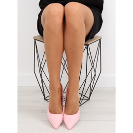 Suede high heels Candy Shop pink LEI-90 Pink 1