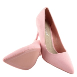 Suede high heels Candy Shop pink LEI-90 Pink 4