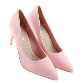 Suede high heels Candy Shop pink LEI-90 Pink 5