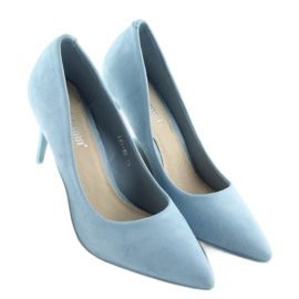 Suede high heels Candy Shop blue LEI-90 L.BLUE 5