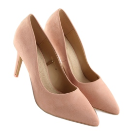 Women's pink suede stilettos RS-GH31 Pink 3