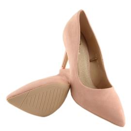 Women's pink suede stilettos RS-GH31 Pink 4