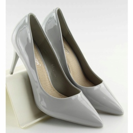 Gray varnished ladies' shoes LEI-83 Gray grey 1