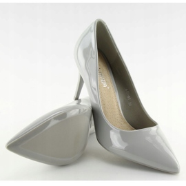 Gray varnished ladies' shoes LEI-83 Gray grey 2