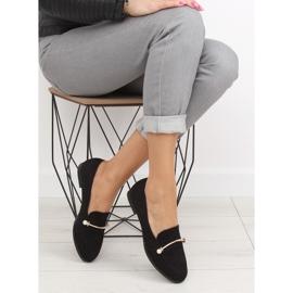 Black Women's loafers T315P Black 4