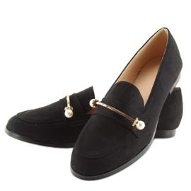 Black Women's loafers T315P Black 2
