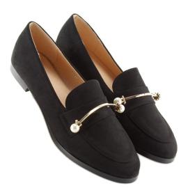 Black Women's loafers T315P Black 1