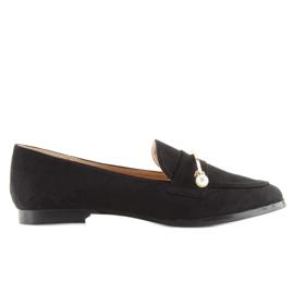 Black Women's loafers T315P Black 3