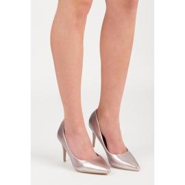 Vinceza Elegant pearly high heels pink 6