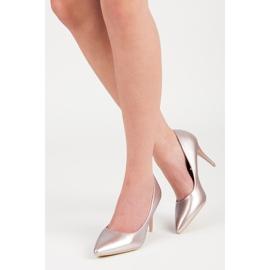 Vinceza Elegant pearly high heels pink 1