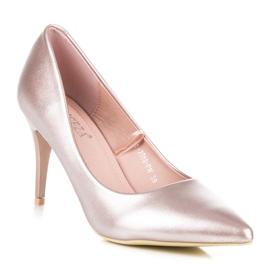 Vinceza Elegant pearly high heels pink 2
