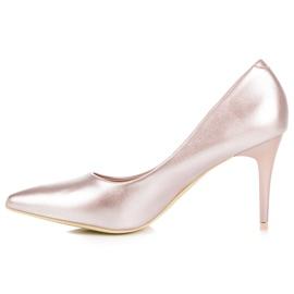 Vinceza Elegant pearly high heels pink 3