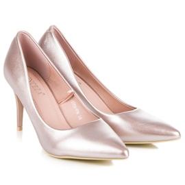 Vinceza Elegant pearly high heels pink 5
