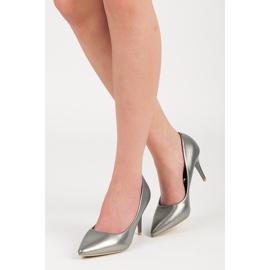 Vinceza Elegant pearly high heels grey 1