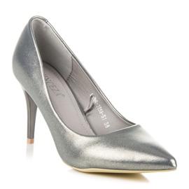 Vinceza Elegant pearly high heels grey 2